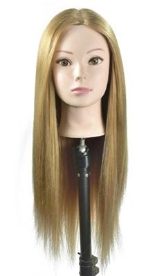 """Комплект: Манекен голова учебный  """"Роксана"""" (блондинка) и настольный штатиф для манекена - фото 8425"""