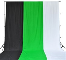 Напольная система установки фона + 3 тканевых фона