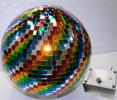 Зеркальный шар цветной