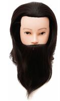 """Манекен-голова """"Денис"""" тренировочная, мужская, с бородой, натуральная"""