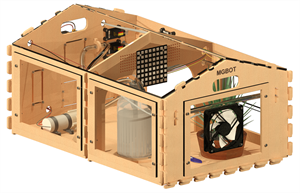 Роботизированный комплект для создания настольной теплицы Тип 1