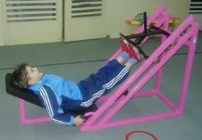 Тренажер детский для жима ногами под углом
