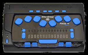 Портативный компьютер с вводом/выводом шрифтом Брайля и синтезатором речи W14J G2