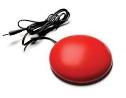 Кнопка выносная компьютерная проводная 75 мм, 4 цвета