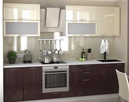 Кухонный комплект: гарнитур, столешница, панель, сушилка.